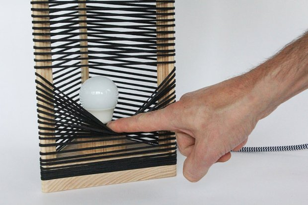 Lampe bois design Thibaut MALET